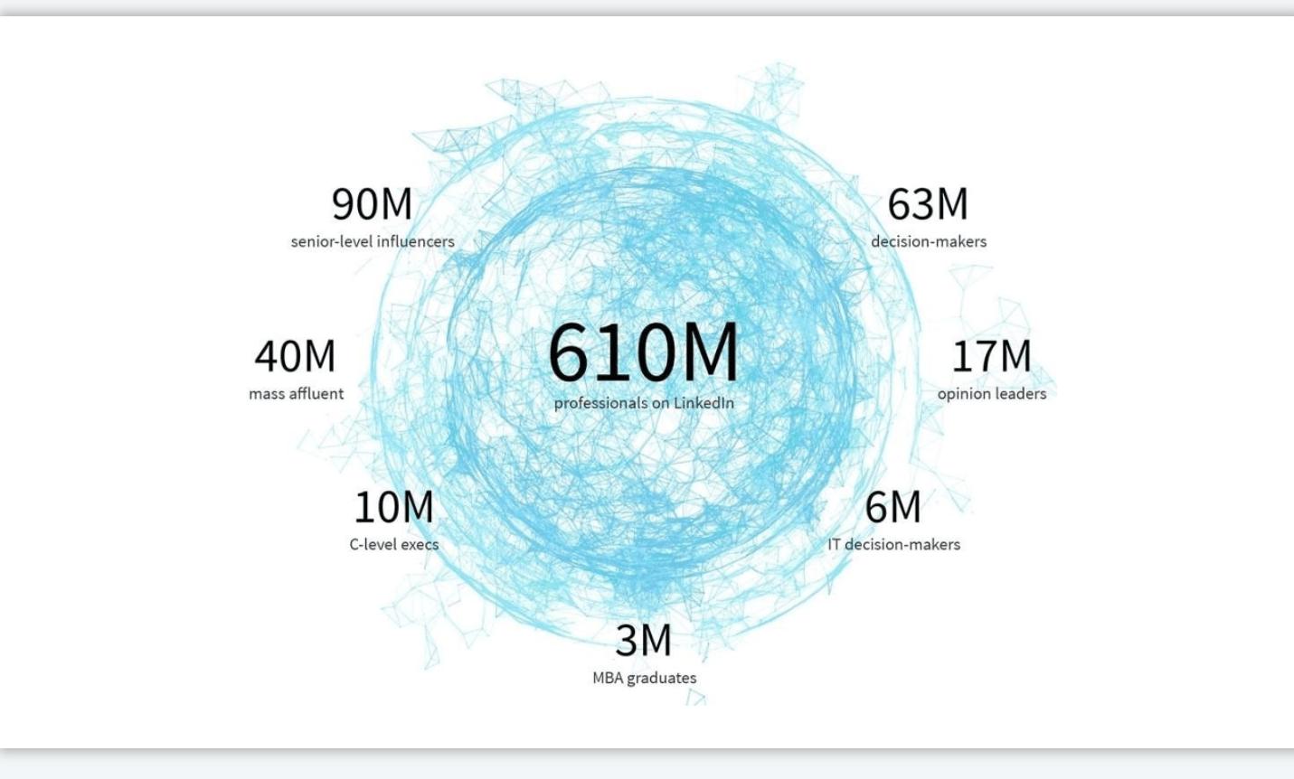 Moc LinkedIn - zestawienie użytkowników portalu