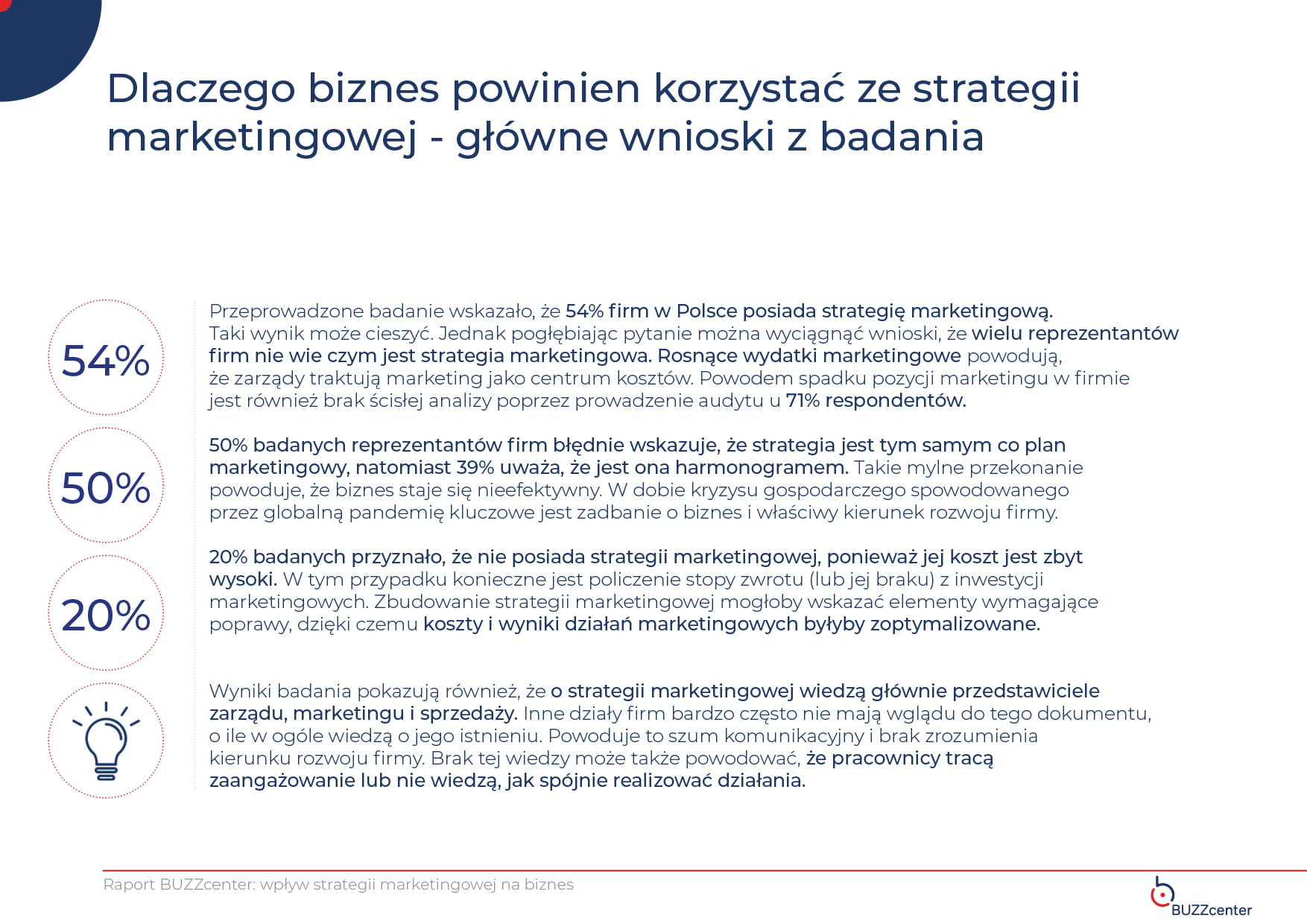strategia marketingowa główne wnioski z badania