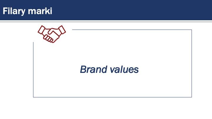 marka - brand values